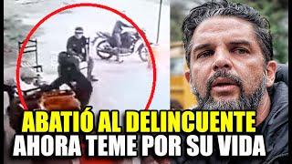Luis Miguel Llanos abatió a delincuente, salió bien de operación, pero teme venganza de los cómplice
