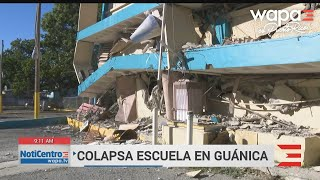 Impresionantes las imágenes de escuela colapsada en Guánica