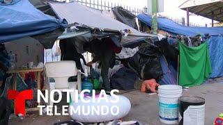 Retiran a migrantes mexicanos de un campamento improvisado en Ciudad Juárez   Noticias Telemundo