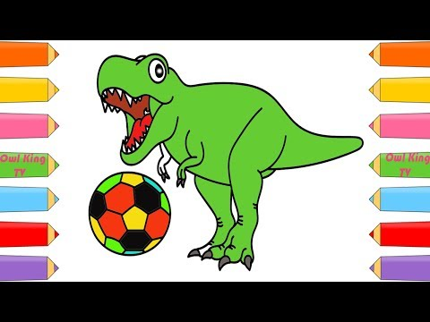download youtube to mp3 how to draw dinosaur soccer ball coloring pages art color with colored markers w owl king tv