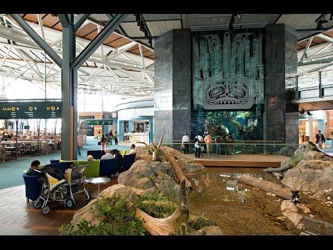 VYR-Vancouver Intl. Airport Tour E gates (HD)