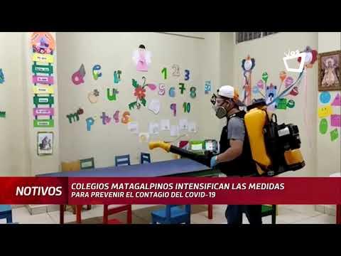 Colegios de Matagalpa intensifican medidas contra la Covid-19