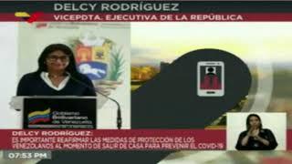 Delcy Rodríguez reporta dos fallecidos por COVID-19 este #3Jun
