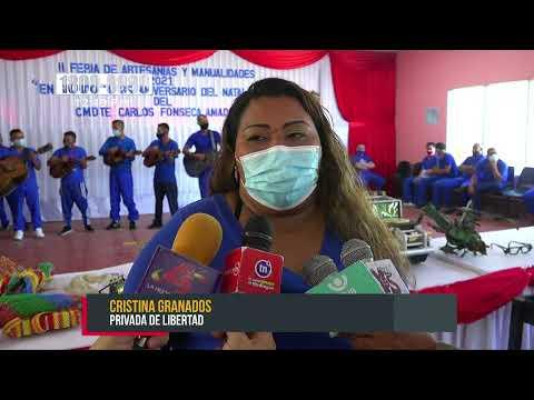 Privados de libertad realizan II feria de artesanías y manualidades en Matagalpa, Estelí y Granada