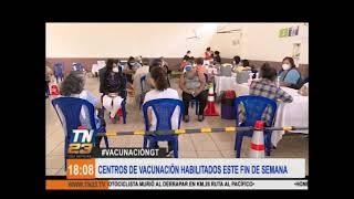 Covid: Estos son los centros de vacunación de este fin de semana