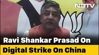 "Blocking Chinese Apps Was ""Digital Strike"": Minister Ravi Shankar Prasad - NDTV"