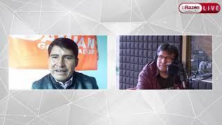 Entrevistamos a Damián Condori, candidato a la Gobernación de Chuquisaca. La Razón Radio 13-04-21