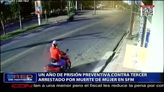 Un año de prisión preventiva contra tercer arrestado por muerte de mujer en SFM