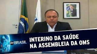 Em assembleia da ONU, Pazuello pede diálogo entre União, estados e municípios | SBT Brasil(18/05/20)