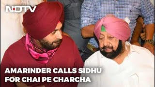 Over A Cup Of Tea, Amarinder Singh And Navjot Sidhu Press Reset In Ties - NDTV