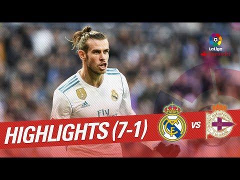 Resumen de Real Madrid vs RC Deportivo (7-1)