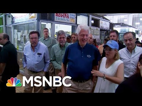 Former U.S. President Bill Clinton Visits Puerto Rico And Meets With Those Left Homeless | MSNBC