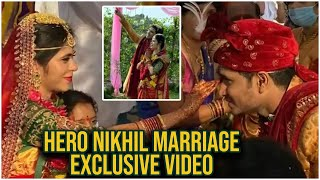 Hero Nikhil Marriage Video | Nikhil Weds Dr Pallavi | Nikhil Marriage At Farm House | TFPC - TFPC