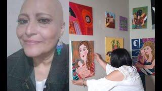 Lorena lucha contra el cáncer y vende pinturas para sobrevivir