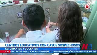 Reportan casos sospechosos de COVID-19 en algunos centros educativos