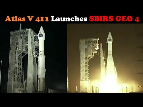 connectYoutube - Atlas V 411 Rocket Launches SBIRS GEO-4 SpaceCraft