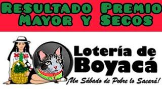 Resultado Loteria de Boyaca Premio Mayor y Secos Sabado 8 de Mayo de 2021