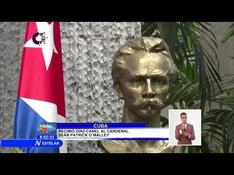 Recibe Presidente de Cuba al cardenal Sean Patrick O´Malley, arzobispo de la arquidiósesis de Boston