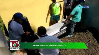 Así fue el entierro del periodista muerto por covid-19 en Puerto Plata