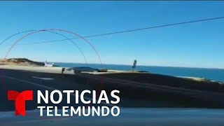 Un auto cae al vacío en un acantilado en California   Noticias Telemundo