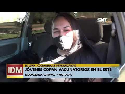 Jóvenes copan los vacunatorios en el Este del país