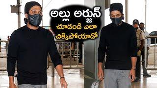 Stylish Star Allu Arjun EXCLUSIVE Visuals @ Hyderabad Airport | Tollywood - TFPC