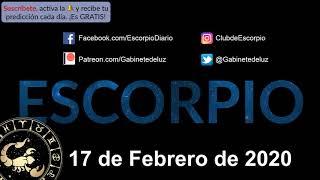 Horóscopo Diario - Escorpio - 17 de Febrero de 2020