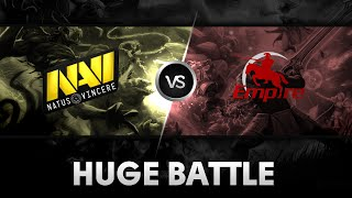 Huge battle by Na'Vi vs Team Empire @Excellent Moscow Cup 2