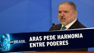 Procurador-geral da República, Augusto Aras, pede harmonia entre Poderes | SBT Brasil (25/05/20)