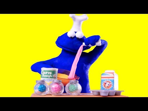 connectYoutube - Cookie Monster Sesame Street character Stop motion animation video for kids