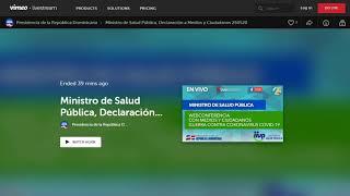 #EnVivo: Rueda de prensa de Salud Pública