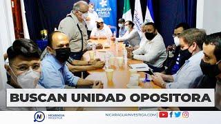 Coalición Nacional se reúne con la Alianza Ciudadana para buscar la unidad opositora