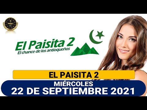 Resultados del Chance EL PAISITA 2 del miércoles 22 de septiembre de 2021
