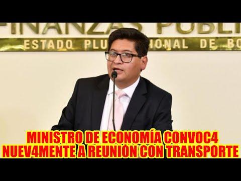 MINISTRO DE ECONOMÍA MARCELO MONTENEGRO CONVOCÓ NUEVAMENTE A TRANSPORTITAS AL DI4LOGO..