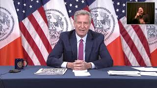 LIVE: New York City Mayor de Blasio holds press conference after night of tense protests