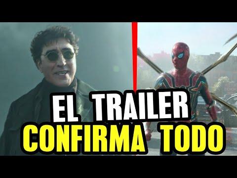 TRAILER Spider-Man No Way Home explicado HD, hechizo de Strange y multiverso, Octopus, Duende Verde