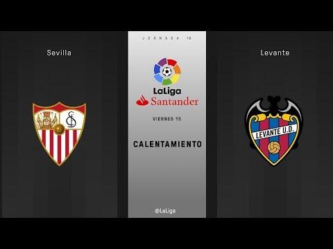Calentamiento Sevilla vs Levante