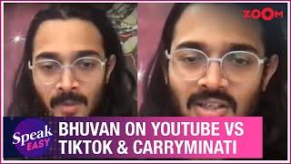 Bhuvan Bam REACTS to YouTube vs TikTok controversy & Carryminati's video being taken down - ZOOMDEKHO