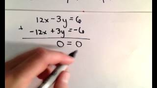 Linear System of Equations with Infinitely Many Solutions