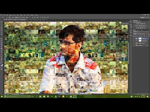 How To Create Photo Photoshop Mosaic with Your best 100 Photo