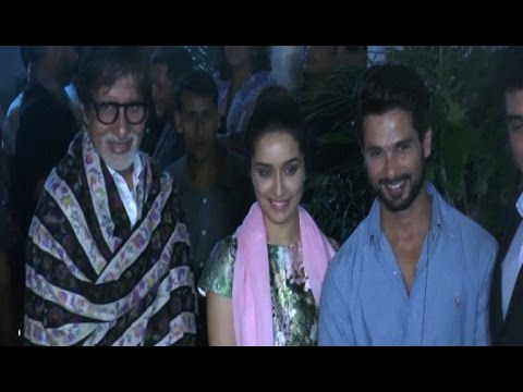 Amitabh Bachchan Meets 'Haider'  Special Screening