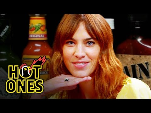 connectYoutube - Alexa Chung Fears for Her Life While Eating Spicy Wings   Hot Ones