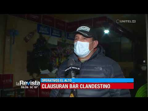 Ocho arrestados en El Alto por consumir bebidas y no respetar las restricciones