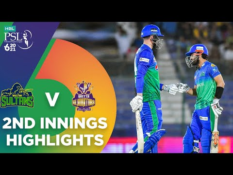 2nd Innings Highlights | Multan Sultans vs Quetta Gladiators | Match 14 | HBL PSL 6 | MG2T