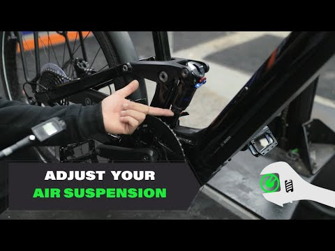 How to adjust the air suspension on your eBike