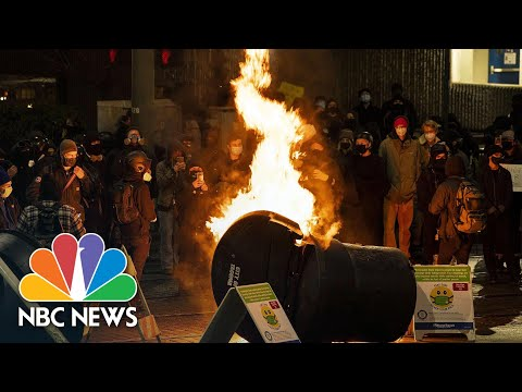 Protesters March In Tacoma, Washington, After Police Vehicle Injures Two People | NBC News NOW