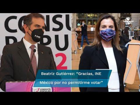 """A lo mejor está mal informada"", responde Lorenzo Córdova a Beatriz Gutiérrez"