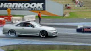Motorvation 09 - Silver R33 Drag Strip Burnout