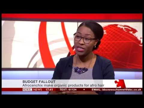 Rachael Corson, CEO of Afrocenchix on BBC News talking #Budget2017