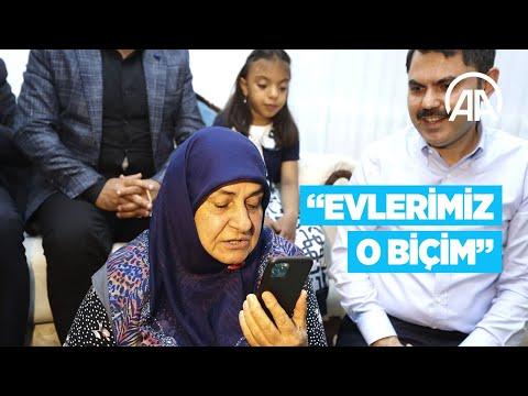 Elazığlı teyzeden Cumhurbaşkanı Erdoğan'a: Evlerimiz o biçim, size dua ediyoruz